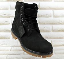 TIMBERLAND 6 inch Waterproof Mens Nubuck Leather Boots Black size 10.5 UK 45 EU