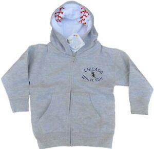 Chicago White Sox SAAG Infant Gray Logo Zip Up Hoodie Sweatshirt Jacket