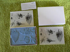 New Cardmaking NIB Dream Impressions 6 pc. Rubber Stamp Set - Lots of Leaves
