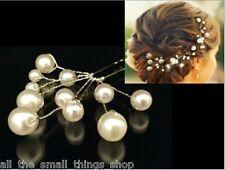 Ivory Pearl Cluster Hair Pin Wedding Hair Bridesmaid Ball Party - Sets of 3 & 5