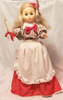 "1982 DISPLAY ARTS Animated Christmas Girl Motionette Figure Holding Candle 24"" T"