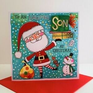 Rachel Ellen An Amazing Son At Christmas Card Santa Snowman/XCHAT04