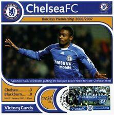 CHELSEA 2006-07 Blackburn (Salomon Kalou) Football Stamp Victory Card #626