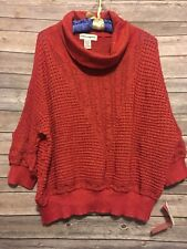 Cathy Daniels Womens Size 2X Sweater Lightweight Red Top NWT