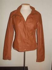 THERAPY BY LANE CRAWFORD MS SIZE LARGE BROWN COGNAC  FAUX LEATHER JACKET