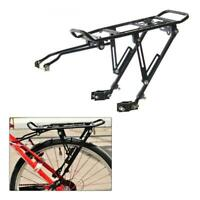 Disc Brake Aluminum Bicycle Rear Rack Foldable Pannier Carrier Bag Luggage Shelf