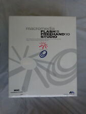 Macromedia Flash 5 Freehand 10 Studio for Mac (New Factory Sealed Retail Box)