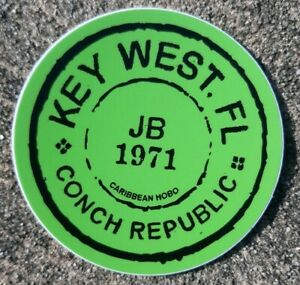 Caribbean Hobo Sticker decal Key West Havana Tropical Florida JB Conch Republic