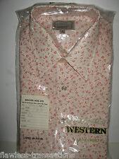 VANDERBILT 1970's Vtg Mens Size M Pearl Snap Long Sleeve Rockabilly Shirt RARE