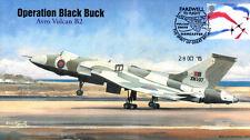 AV600 Avro Vulcan XM597 Operation Black Buck RAF cover Final flight 28 Oct 15