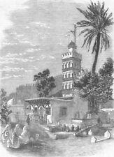 ALGERIA. Cemetery & Tomb of Sidi Abderahman, Algiers, antique print, 1858