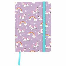 A6 Journal Girls Purple Unicorn Mermaid Notebook Hardback Book Cover Diary Gift