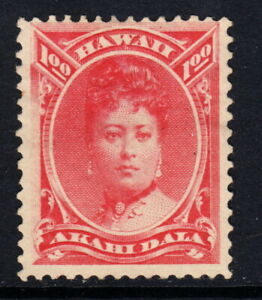 1883 Hawaii #49 Rose Red $1 Mint No Gum H   -  ONE DOLLAR - NoReserv
