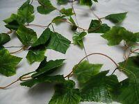 "8FT 6"" GREEN GARLAND plant garden/FOLIAGE/FAKE/PLANT leaf trailing/VINE/ivy"