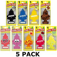 5 x Magic Little Trees Air Freshner Scent Car Home Office Van UK - Free Holder