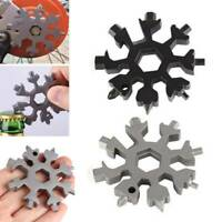 18in1 Stainless Multi-tool Snowflake EDC Keychain Tool Screwdriver Bottle Opener