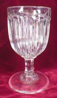 Knives & Forks Goblet Belltone Flint Glass EAPG Antique 1860s Rayed Foot