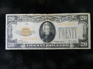 1928 GOLD CERTIFICATE $20 TWENTY DOLLAR GOLD CERTIFICATE