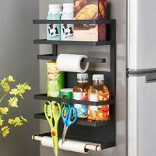 4 Tier Kitchen Roll Dispenser Cling Film Foil Towel Holders Rack Wall Mounted