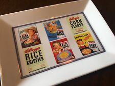 VINTAGE KELLOGG'S Cereal Breakfast Plate Serving Tray Porcelain #163