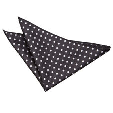 DQT Woven Polka Dot Black Casual Handkerchief Hanky Pocket Square