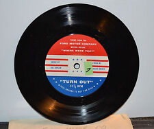 """VTG 1960s Advertising Ford 7"""" Record 33 1/3 Turn Out Where Were You Mint N"""