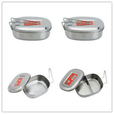 Stainless Steel Bento Box Non-rusting Lunch Containers Carry For Kids/Adults