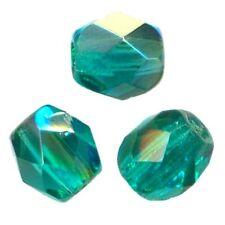 12 Perles Facettes cristal boheme 8mm EMERALD AB