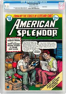 AMERICAN SPLENDOR #4, CGC 9.6, 1ST, UNDERGROUND COMIX, *HAIGHT ASHBURY PEDIGREE*