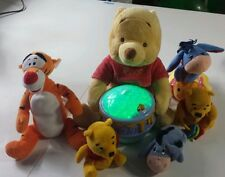 Winnie the Pooh Baby Infant Plush Nursery Rattles Night Light Pig TIGGER Eeyore