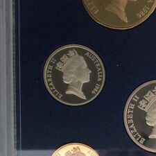 1986 5 cent proof coin in 2 x 2 holder