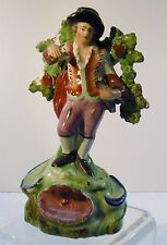 3x14 ANTIQUE 1800s STAFFORDSHIRE BOCAGE FIGURINE as is - MAN