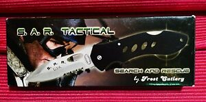 Frost Cutlery SAR Tactical Knife 16-058B Stainless Steel Blade NEW