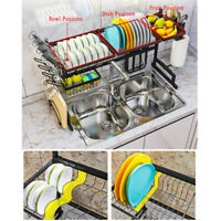 Over The Sink Dish Drying Rack Shelf Stainless Steel Storage Cutlery Holder New