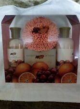 ASQUITH & SOMERSET CRANBERRY & ORANGE 4 PC GIFT SET FREE SHIPPING