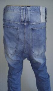 Humör Santiago Drop Crotch Jeans 33 Vintage Blue Antifit Chino Hose Nixon Lago