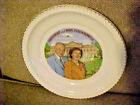 President Dwight Eisenhower and Mamie Collector Plate - White House Background