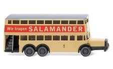 """#097303 - Wiking Berliner Doppeldeckerbus D 38 """"Salamander"""" - 1:160"""