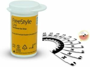 Diabetic Freestyle Lite Blood Glucose Test Strips 50 NEW WIITH OUT BOX