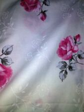Twin Bedding 3 Piece Sheet Set Pink Roses Cotton Poly Cottage Farmhouse Chic