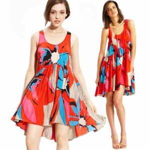 Anthropologie Leifsdottir Floral Silk Tank MEDIUM Dress MIDSUMMER BLOOM