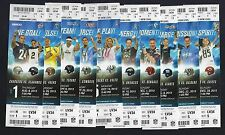2013 NFL SAN DIEGO CHARGERS FULL UNUSED FOOTBALL TICKETS - ENTIRE HOME SEASON