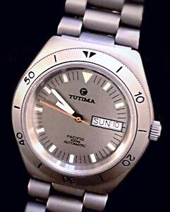 Vintage TUTIMA 670 Pacific Watch Silver Dial • Day/Date • Ref. 670-02  (NIB)