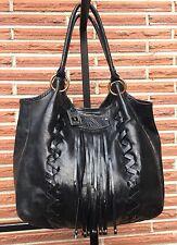 Frye Women's Fringe Large Hobo Bag Black When New Over $500.
