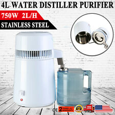 750W 4L WATER DISTILLER PURIFIER STAINLESS STEEL DISTILLED PURIFIED HOME MEDICAL