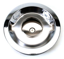 """Pro-Flo Chrome 14"""" Round Air Cleaner with 3"""" Paper Element (Deep Flange) 1221"""