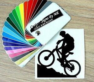 Mountain Biking Cycling Bike Car Sticker Vinyl Decal Adhesive Window Bumper BLAC