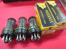 Sylvania Set of Three 6Sn7 Gtb Vacuum Tubes Matching Date Codes (Fg) 2 Matched