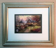 "Thomas Kinkade Framed Open Edition ""Make a Wish Cottage"" - NEW"