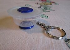 Tupperware BLUE LACQUER  Batter Bowl Keychain